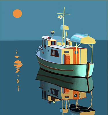 Water Vessels Paintings Original Artwork