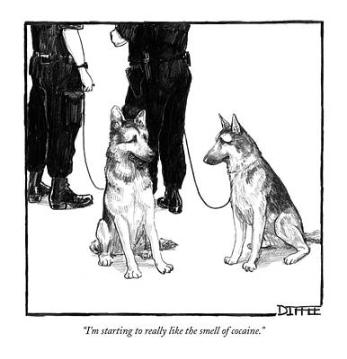 Police Dog Drawings