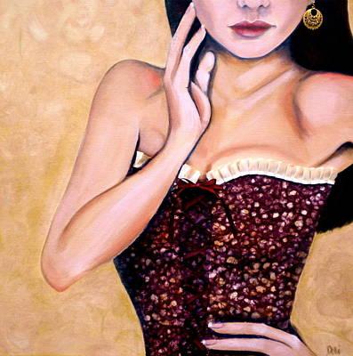 Gold Earrings Original Artwork
