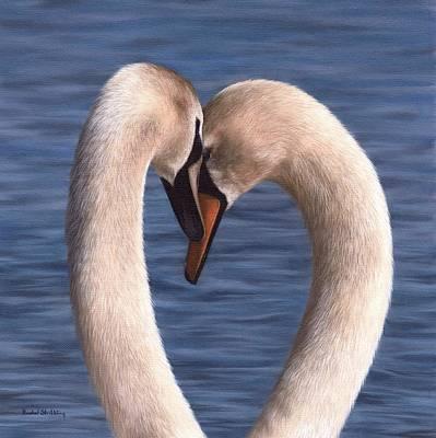 Swan Pair Original Artwork