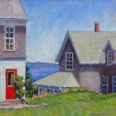 Old Maine Houses Original Artwork