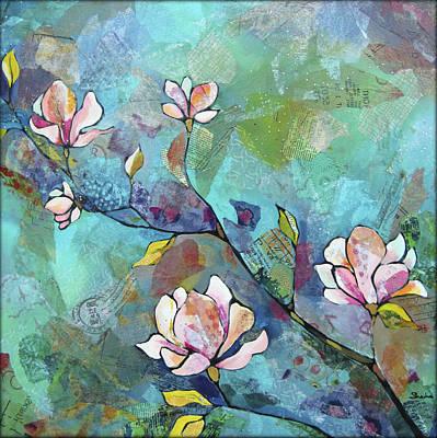 Magnolia Flower Paintings Prints