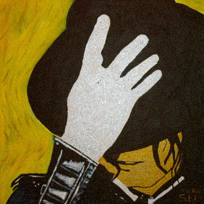 Glitter Glove Paintings