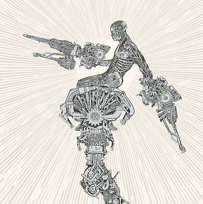 Designs Similar to Comic-book Style Cyborg Hero
