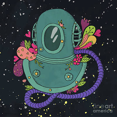 Designs Similar to Retro Diving Suit With Abstract