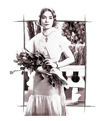 Lillian Gish Digital Art