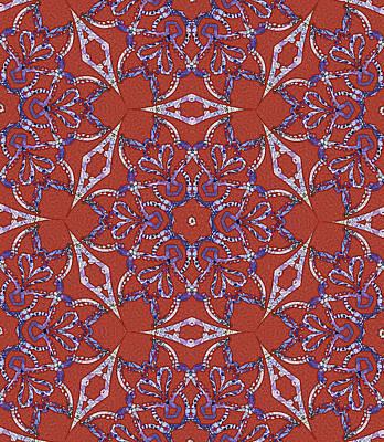 Digital Art - Amethyst Star Mandala by Sarajane Helm