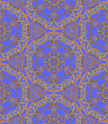 Digital Art - Buttercup Bandana Mandala by Sarajane Helm