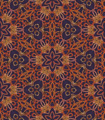 Digital Art - Byzantine Fireworks Mandala by Sarajane Helm