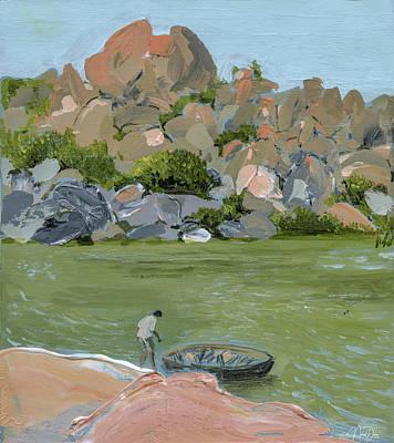 Painting - Tungabhadra River by Nehal Desai