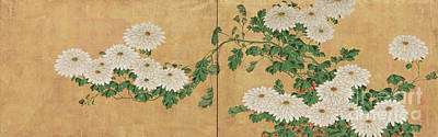 Designs Similar to Chrysanthemums, Edo Period