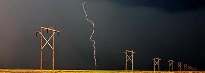 Lightning Bolts Digital Art Prints