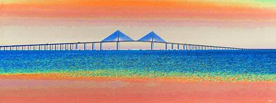 Sunshine Skyway Bridge Paintings Prints