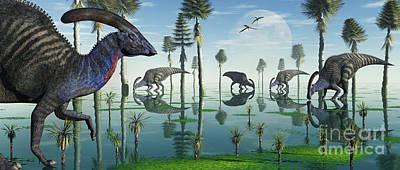 Parasaurolophus Digital Art