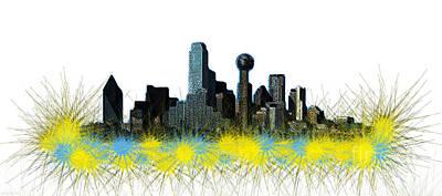 Dallas Skyline Mixed Media