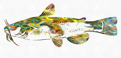 Catfish Mixed Media