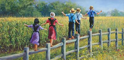 Amish Family Art