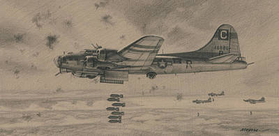Stunning Boeing B 17 Flying Fortress Drawings Fine Art