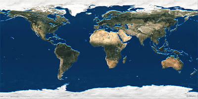Satellite Imagery Digital Art
