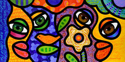 Curated Collection: Colorful People - Abstract - Art