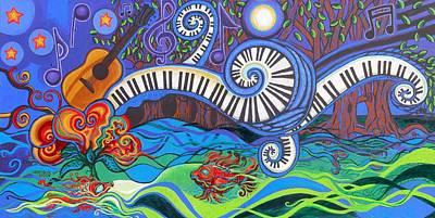 Piano Keys Paintings Original Artwork