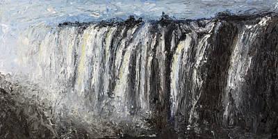 Zambia Waterfall Original Artwork
