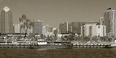Designs Similar to San Diego Skyline In Sepia