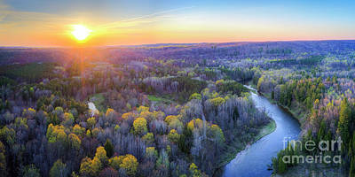 Designs Similar to Manistee River Sunset Aerial