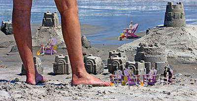 Sand Castles Digital Art Prints