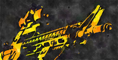 Designs Similar to Abstract Ar15 Watercolor