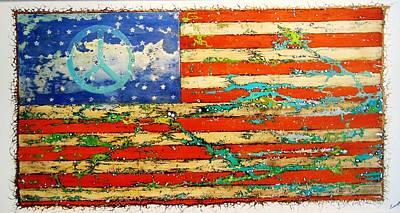 Emil Bodourov: American Flag Art