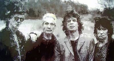 Mick Jagger And Keith Richards Digital Art