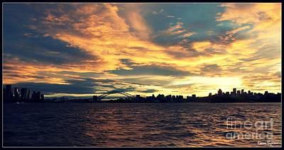 Sydney Skyline Mixed Media
