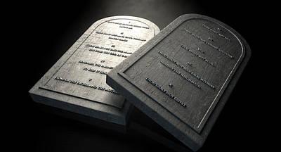 Ten Commandments Digital Art