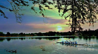 Dragon Boat Race Digital Art