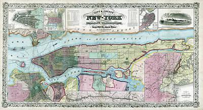 Designs Similar to New York Map Ca 1857