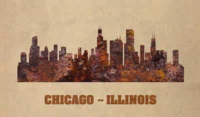 Chicago Skyline Mixed Media