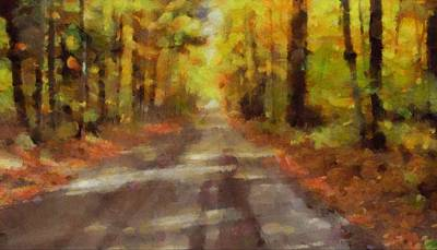 Country Dirt Roads Mixed Media