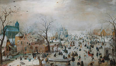 Designs Similar to Winter Landscape With Skaters