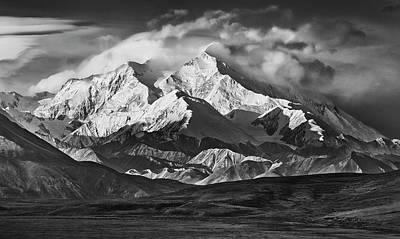 Alaska Mountain Range. Black And White Prints