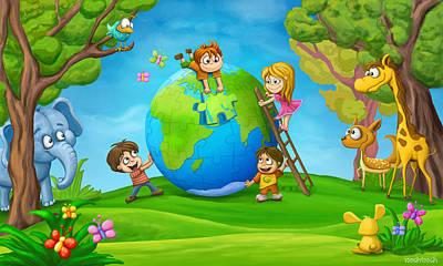 Designs Similar to Puzzle World by Tooshtoosh