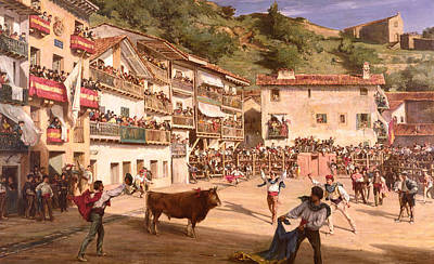 Spanish Town Paintings