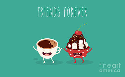 Designs Similar to Cupcakes And Cup Coffee. Comic