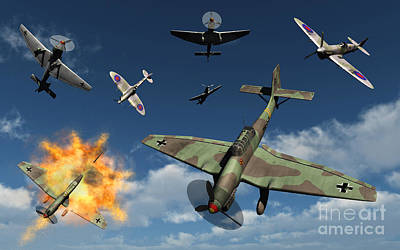 Dive Bombing Digital Art