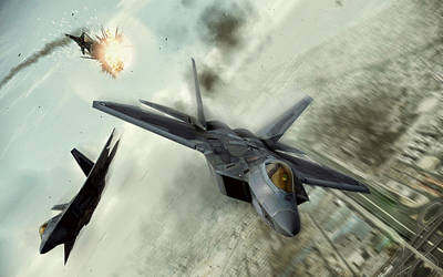 F-22 Digital Art