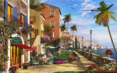 Italian Restaurant Digital Art Prints