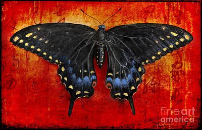 Blue Swallowtail Digital Art