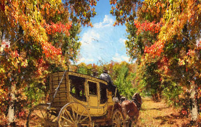 Apple Orchard Digital Art Prints