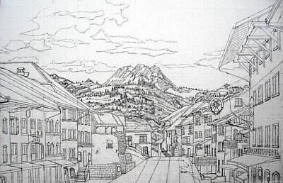 Switzerland Drawings Original Artwork