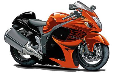 Designs Similar to Suzuki Hayabusa Orange Bike